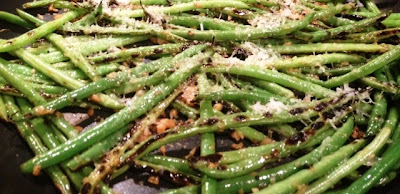 garlic green beans with manchego