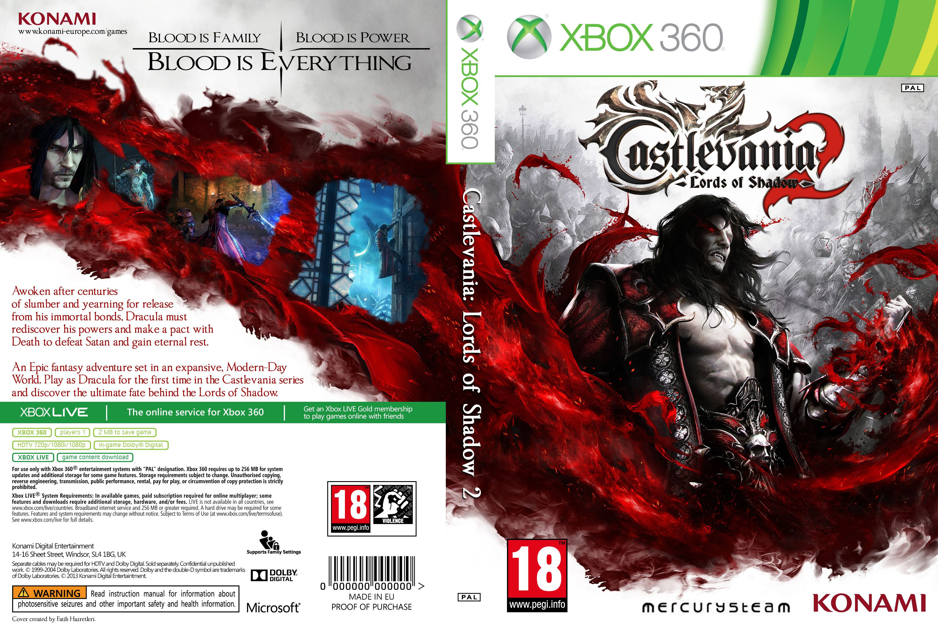 Capa Castlevania Lords Of Shadow 2 Xbox 360