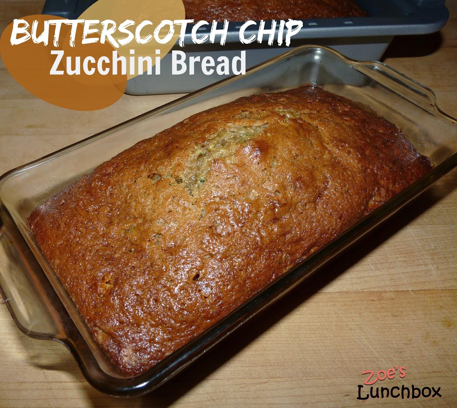 Butterscotch Zucchini bread