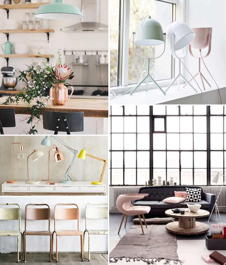 Une d co pastel x industrielle louise grenadine blog lifestyle lyon - Idee deco industriel ...
