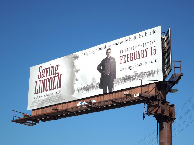 Saving Lincoln movie billboard