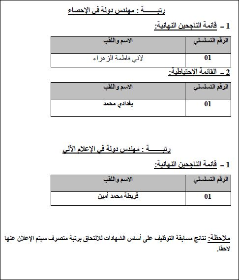 نتائج مسابقة التوظيف في وزارة التجارة 2013 4.JPG