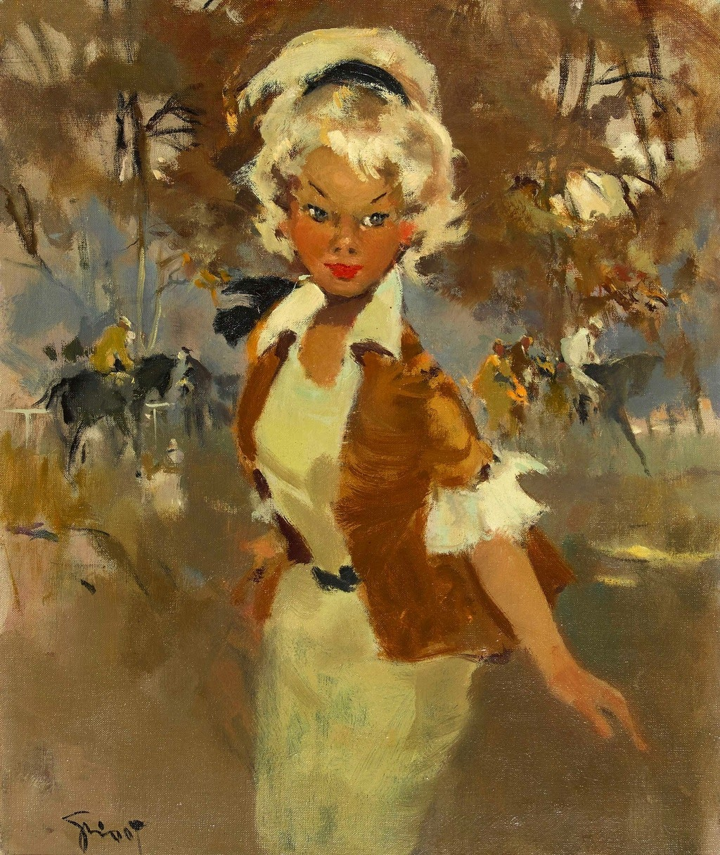 Pierre Grisot Girl at the Races