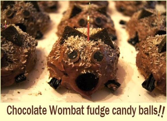 wombat chocolate fudge candy balls image
