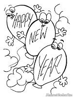 Mewarnai Gambar Tahun Baru