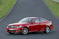 2011/2012 Mercedes C-Class Coupé (W 204) C 350 Petrol Gasoline official press media picture image photo Multi Shot