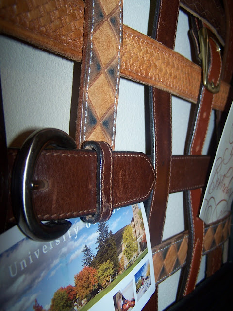 Beyond the picket fence belted inspiration Repurposed leather belts