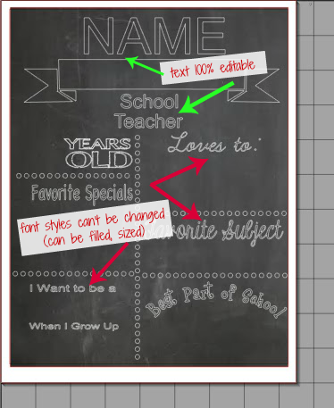 Chalkboard printables template free silhouette studio cut file silhouette school for Printable chalkboard template
