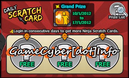 Ninja Saga Scratch Card Hack Terbaru