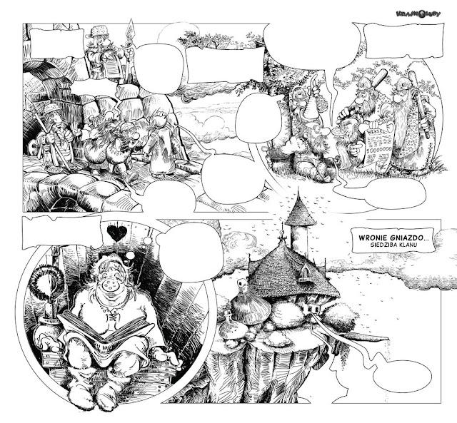 kobiety Krasnoludy dwarves nains Гномы hobbit, tolkien christa, rosiński, smoki dragons dragons драконы komiks bandes dessinées comics piwo beer bière пиво Zbyszek Larwa stańczyk obława