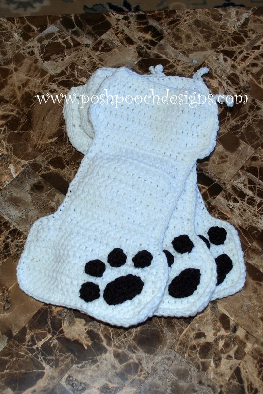 Free Dog Christmas Stocking Crochet Pattern : Posh Pooch Designs Dog Clothes: November 2014