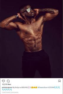 Peter Okoye shirtless