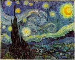 "The ""Starry Night"" by Vincent Van Gogh 1889"