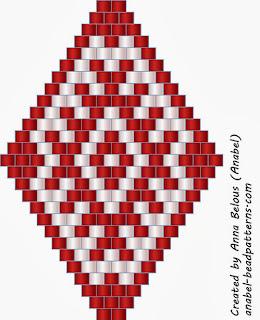 серьги из бисера схемы кирпичное плетение анабель славянские
