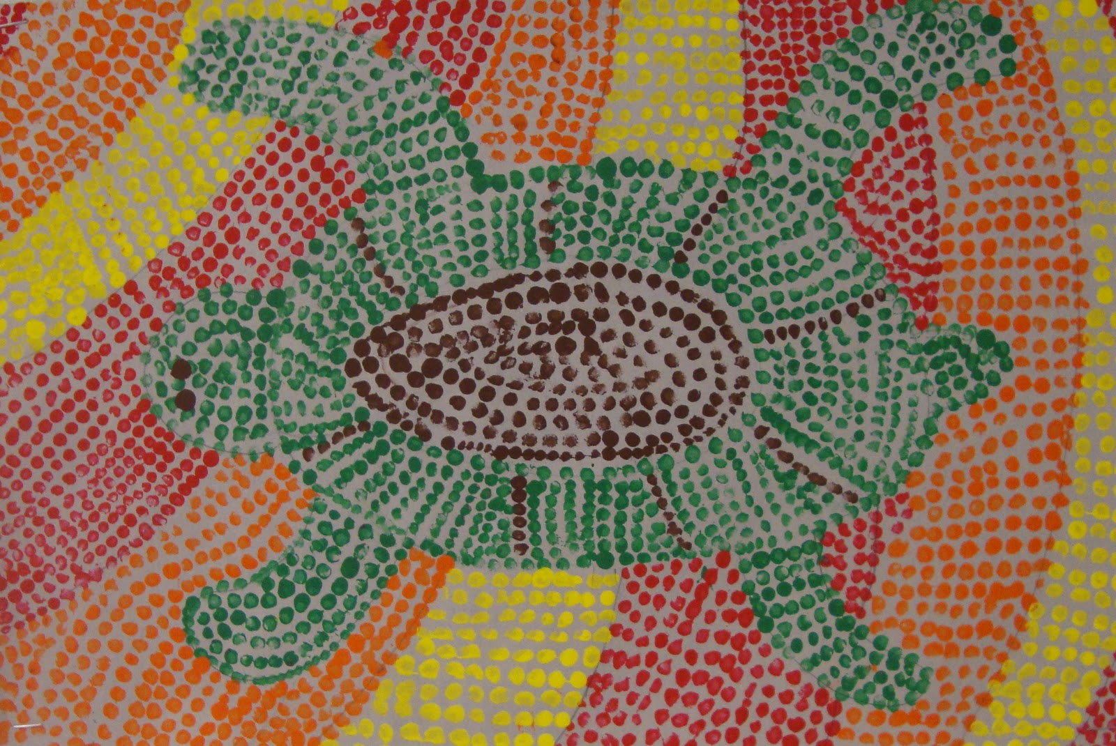 Aboriginal Dot Paintings Animals http://art-paper-scissors.blogspot.com/2012/01/aboriginal-dot-paintings.html