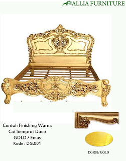 Contoh Furniture finising cat duco emas