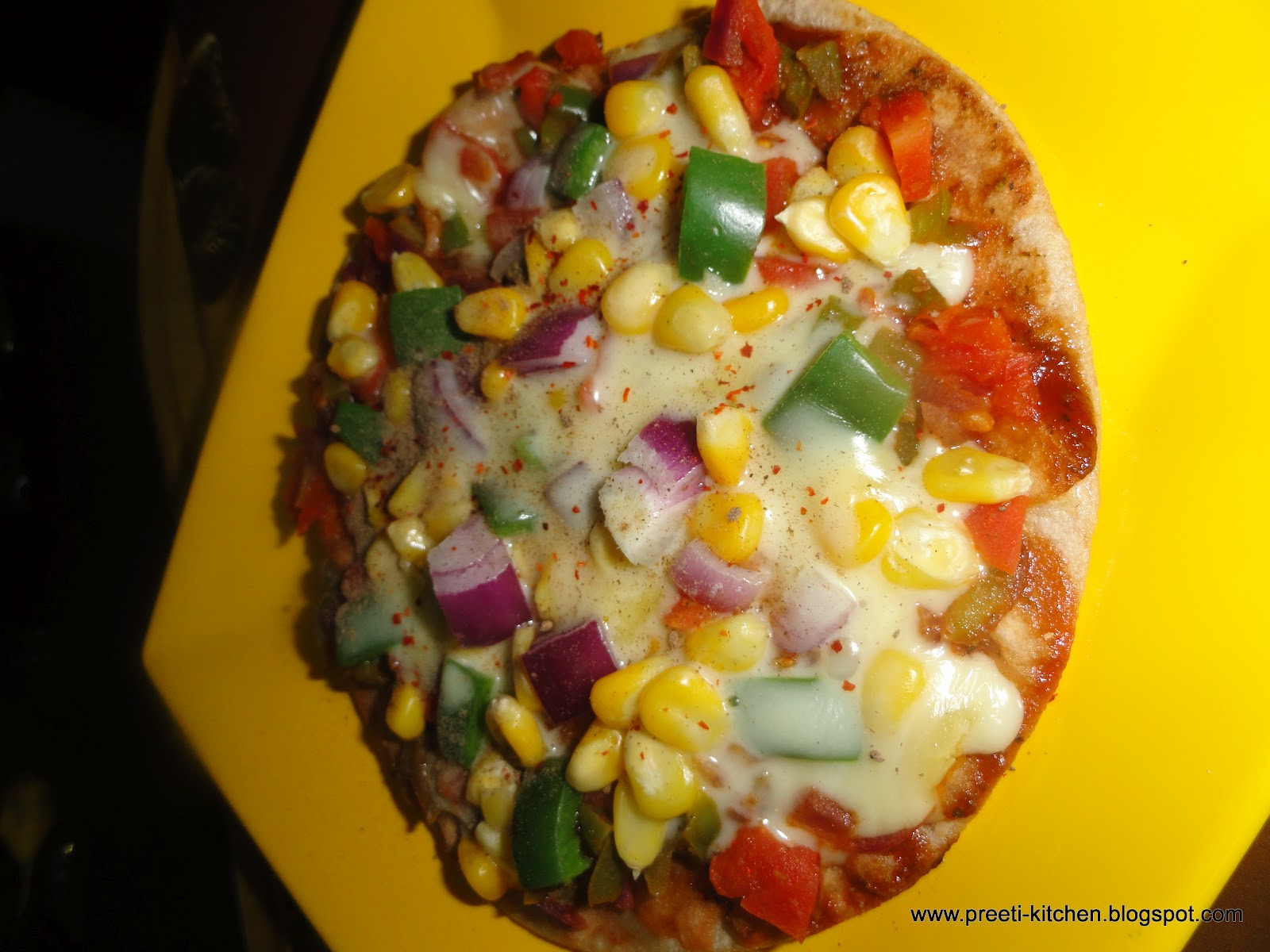 Pizza on tawa homemade pizza healthy pizza simply tadka sprinkle oregano chaat masala and chiliesflake forumfinder Gallery