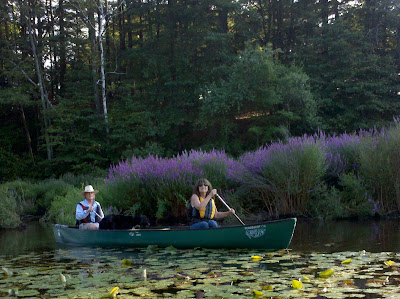Pam Ciampi in canoe Boston 2011
