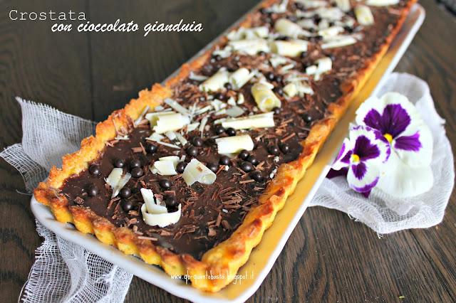www.qb-quantobasta.blogspot.it - Tarte au chocolat - Crostata con ripieno di cioccolato gianduia