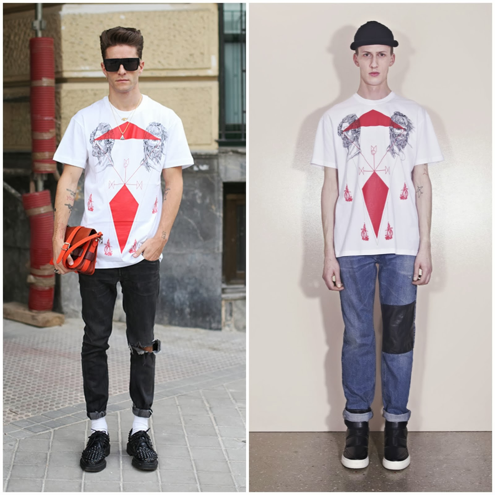 00O00 Menswear Blog: Pelayo Diaz in McQ Alexander McQueen x MxM Maxime Büchi