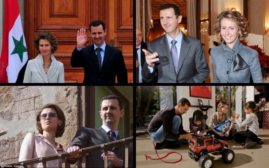 El asesino Bashar Al-Assad (hijo del asesino Hafed Al-Assad) y su mujer la dictatriz Asma Al-Akhras