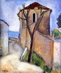 Tree and Houses: Amedeo Modigliani