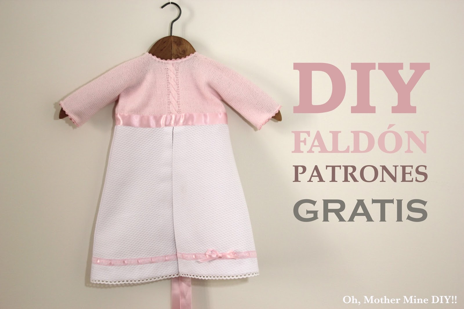 Faldón de bebé DIY (patrones gratis) - Handbox Craft Lovers ...