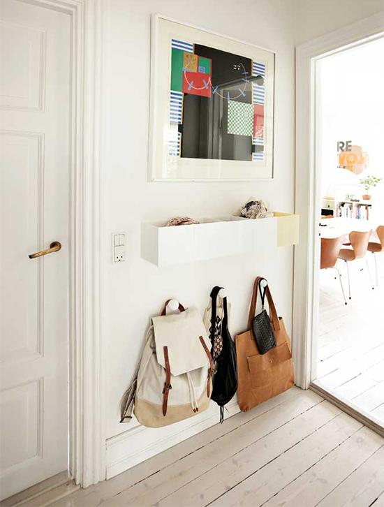 hall de entrada, organizar mochila, guardar, otimizar espaco, storage, ganchos, hall