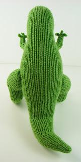 t rex dinosaur knit tyrannosaurus rex toy green