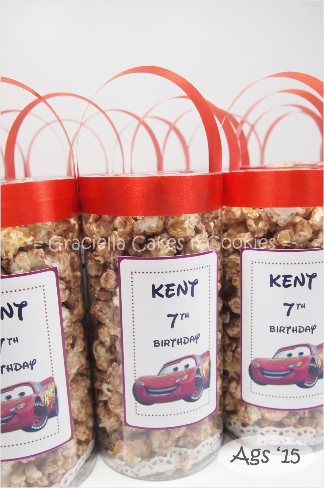 Labels Birthday Cake Decoration Fondant Goodie Bag Popcorn The Cars