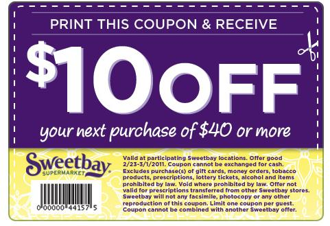 Sweetbay coupons 10 off 2018