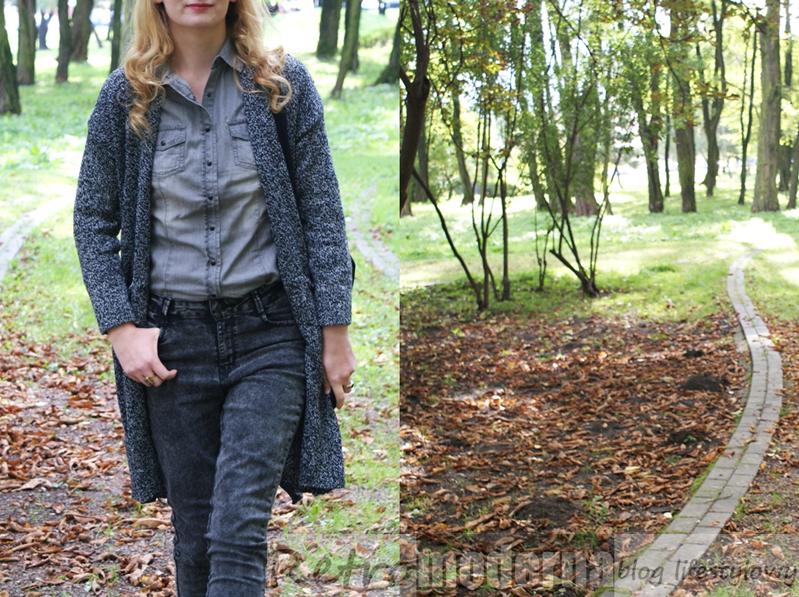 jesienny spacer w parku