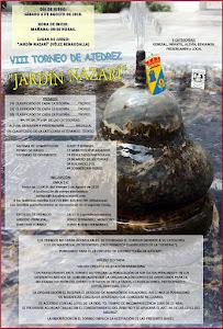 "VIII TORNEO DE AJEDREZ ""JARDÍN NAZARÍ"""
