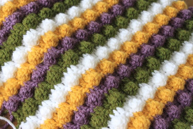 Knitted Popcorn Stitch Afghan : CROCHET STITCH BLANKET How To Crochet