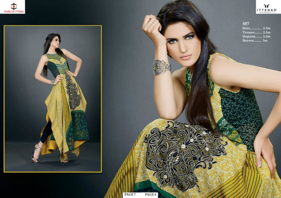 EmbroideredSwissVoileSpringSummercollection2013 4 - Ittehad Lawn Embroidered
