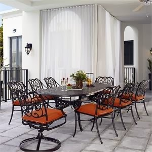 Telescope Casual Bella Lucca Cast Aluminum Patio Dining Set