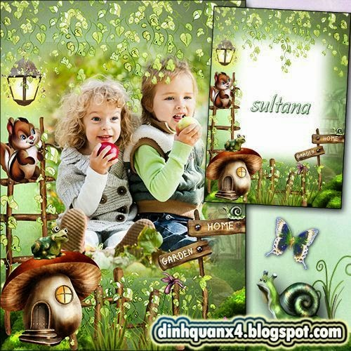 Children frame for photo - In the fairy forest