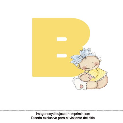 Letra b para imprimir