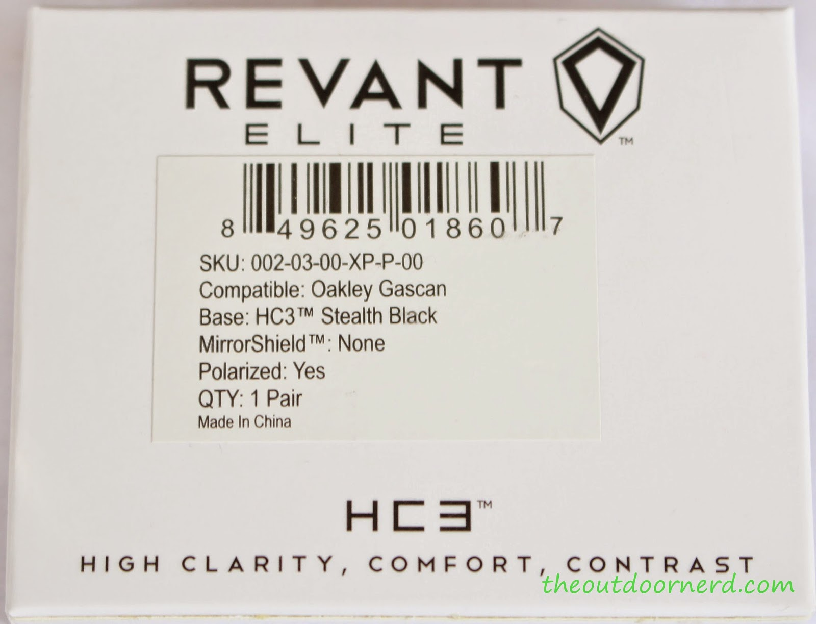 Revant Elite HC3 Replacement Lenses For Oakley GasCan In Box