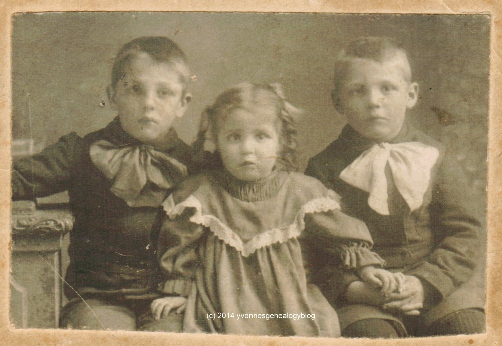 Alma Desgroseilliers with her brothers Eugene and Arthur