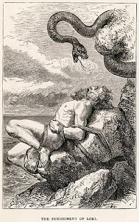 """The Punishment of Loki"" - Louis Haud"