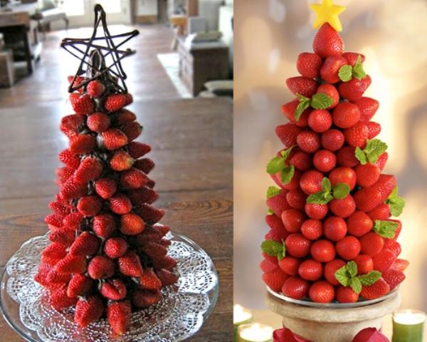 Toda bela Como decorar a mesa de Natal com frutas -> Decoração Mesa De Frutas Natal Simples