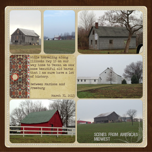 +Tammy Malone, Project Life, Illinois, Barns, iPhone 4s, iPhoneography, Digital Scrapbooking, Jessica Sprague, +Lori Whitlock