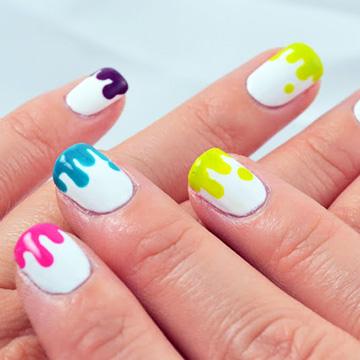 http://www.glitterandglossnails.com/2013/10/rainbow-drip-nails.html