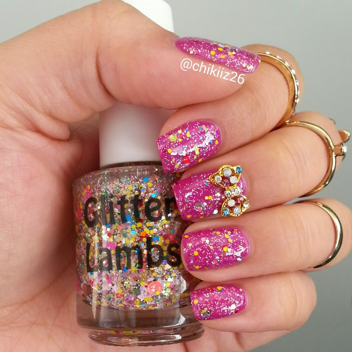 Valentine Surprise Candy Glitter Lambs Nail Polish Worn by @Chikiiz26