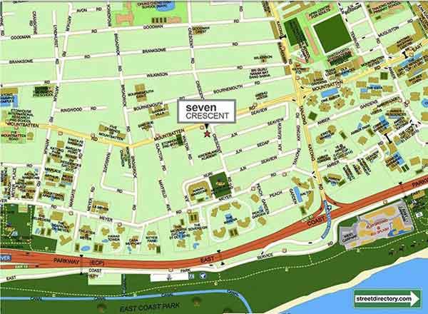 Seven Crescent Location Map