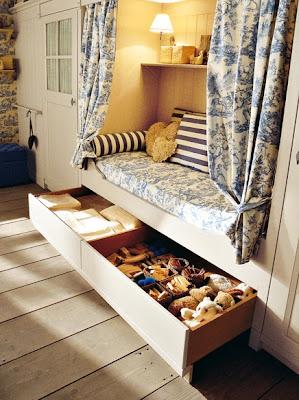 dormitorio azul beige niñas