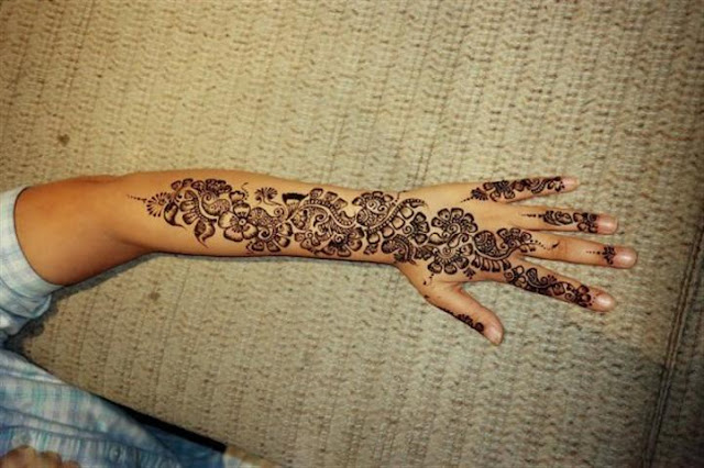 Full Hand Mehndi designs For Girls