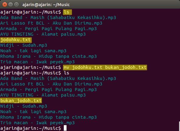 Perintah dasar linux - mv