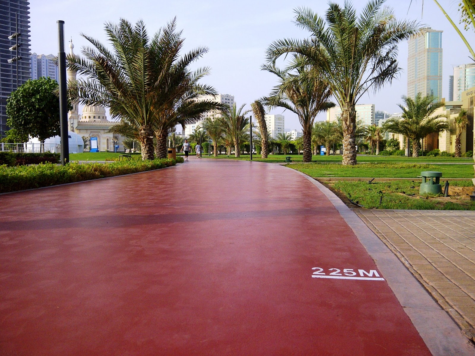 my yellow bells food travel and style blogger in dubai On terrace jogging track